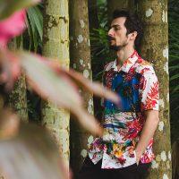 鈴木英人氏の作品「パラディーゾ」のアロハシャツが仕上がりました。